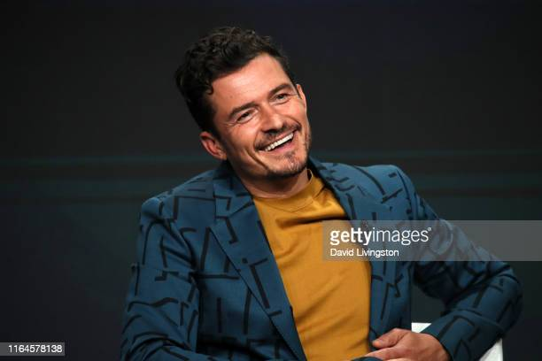 Orlando Bloom of 'Carnival Row' speaks onstage during the Amazon Prime Video segment of the Summer 2019 Television Critics Association Press Tour at...