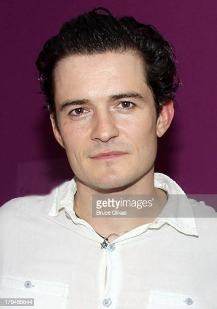 Orlando Bloom poses backstage at 'Romeo and Juliet' on Broadway at The Richard Rogers Theater on September 3 2013 in New York City