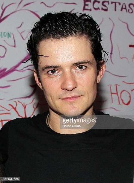 Orlando Bloom poses backstage at 'Romeo and Juliet' on Broadway at The Richard Rogers Theater on September 26 2013 in New York City
