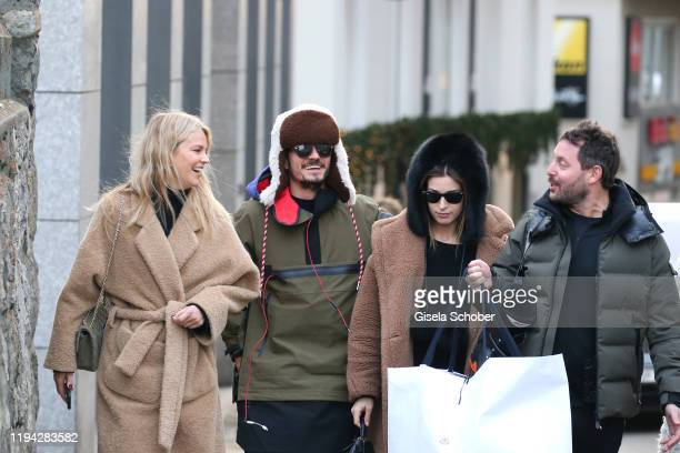 Orlando Bloom prior the wedding party of Stavros Niarchos III and Dasha Zhukova on January 17 2020 at Hotel Kulm in St Moritz Switzerland
