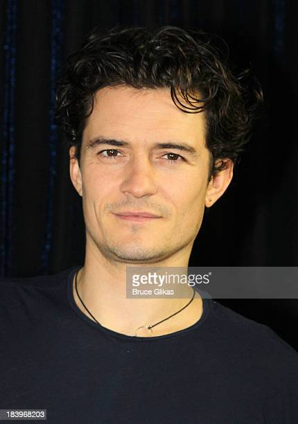Orlando Bloom promotes 'Romeo and Juliet' on the set of 'Show People' at The Broadwaycom Times Square Studios on October 10 2013 in New York City