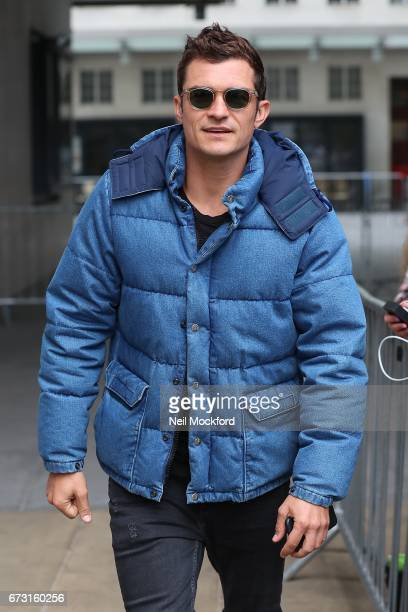 Orlando Bloom seen at BBC Radio One on April 26 2017 in London England