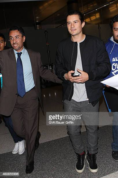 Orlando Bloom seen at LAX on December 18 2014 in Los Angeles California