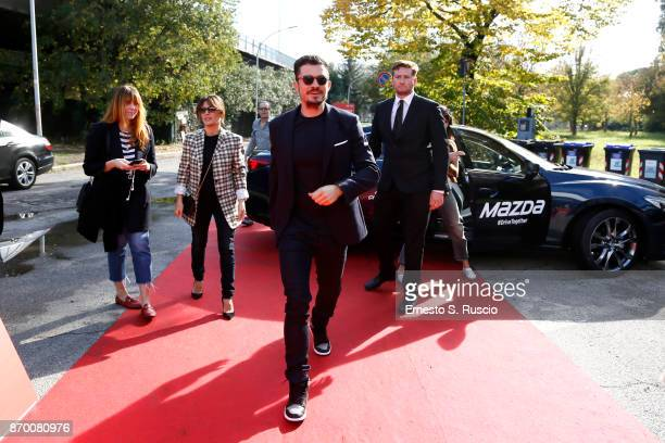Orlando Bloom signs autographs as he walks a red carpet for 'Romans' during the 12th Rome Film Fest at Auditorium Parco Della Musica on November 4...
