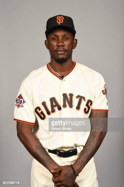 Orlando Calixte of the San Francisco Giants poses during Photo Day on Tuesday February 20 2018 at Scottsdale Stadium in Scottsdale Arizona