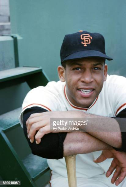 Orlando Cepeda of the San Francisco Giants poses for a portrait before an MLB game against the Cincinnati Reds circa August 1962 at Candlestick Park...
