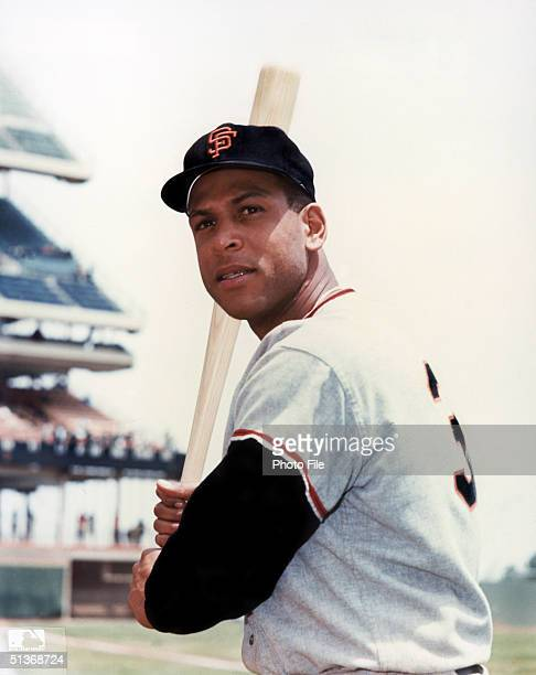 Orlando Cepeda of the San Francisco Giants poses for an action portrait Orlando Cepeda played for the Giants from 19581966