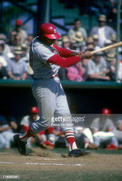 Orlando Cepeda of the St Louis Cardinals bats during a Major League Baseball game circa 1967 Cepeda played for the Cardinals from 196668