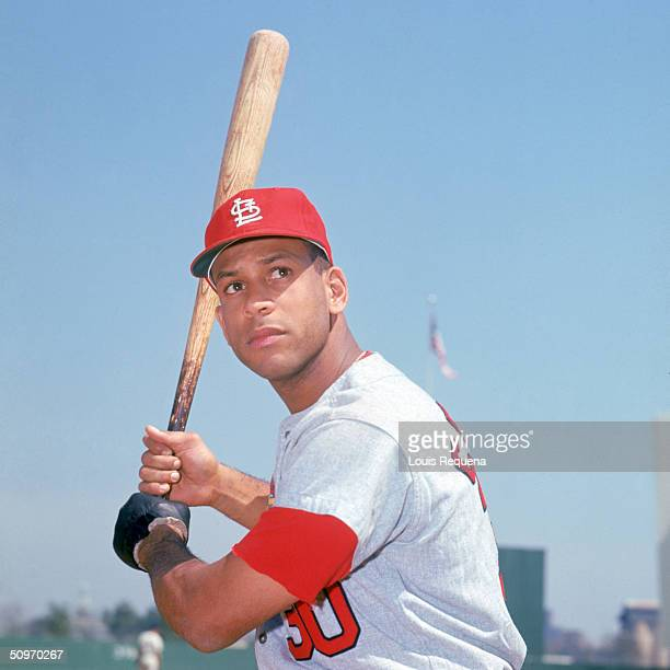 Orlando Cepeda of the St Louis Cardinals poses for an action portrait circa 1966 Cepeda played for the Cards from 19661968