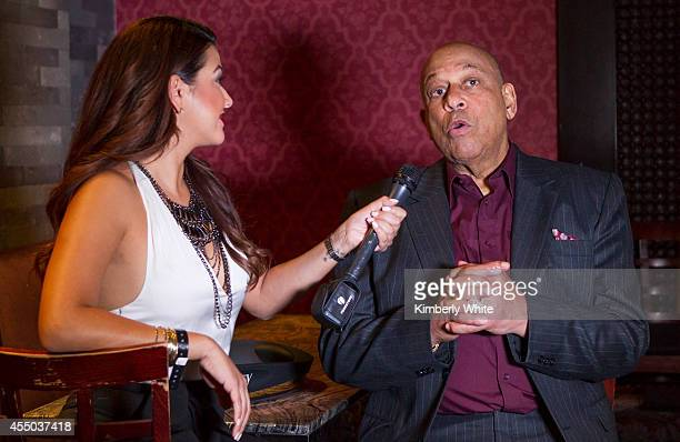 Orlando Cepeda San Francisco Giants baseball legend, is interviewed at Infusion Lounge on September 8, 2014 in San Francisco, California.