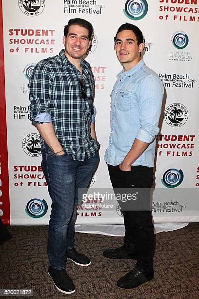 Orlando Cicilia III and Oscar Derosa attend Palm Beach International Film Festival 2016 Filmmakers Meet And Greet on April 7 2016 in Manalapan Florida