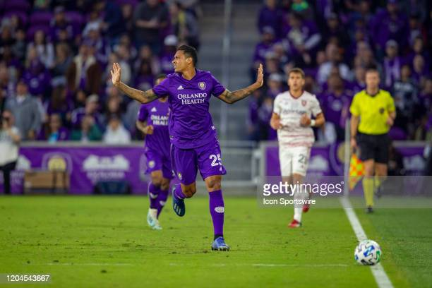 Orlando City defender Antonio Carlos during the soccer match between Real Salt Lake and Orlando City SC on February 29 at Exploria Stadium in Orlando...