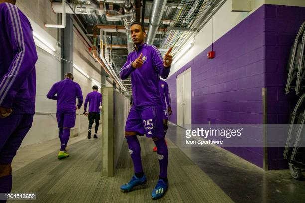 Orlando City defender Antonio Carlos walks out of the locker room before the soccer match between Real Salt Lake and Orlando City SC on February 29...