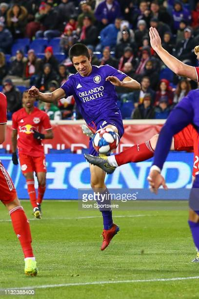 Orlando City defender Joao Moutinho during the first half of the Major League Soccer game between the York Red Bulls and Orlando City on March 23...