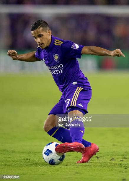 Orlando City defender Mohamed ElMunir cuts the ball during the MLS Soccer match between Orlando City SC and Minnesota United FC on March 10th 2018 at...