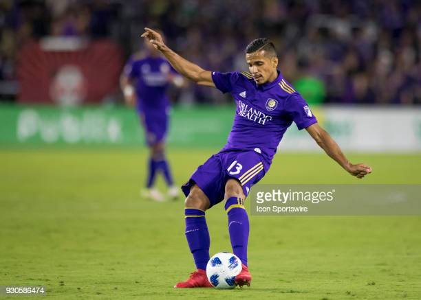 Orlando City defender Mohamed ElMunir shoots the field during the MLS Soccer match between Orlando City SC and Minnesota United FC on March 10th 2018...