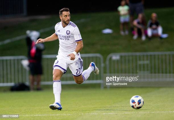 Orlando City defender RJ Allen on the attack during a USOC round of sixteen match between DC United and Orlando City SC on June 20 at Maryland...