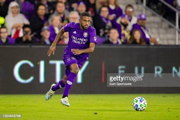 Orlando City defender Ruan chases down the ball during the soccer match between Real Salt Lake and Orlando City SC on February 29 at Exploria Stadium...