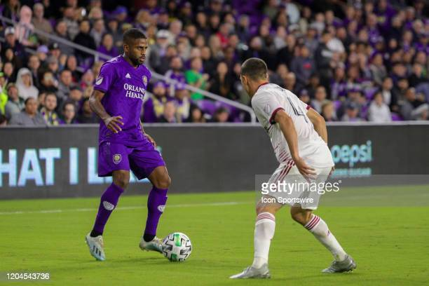 Orlando City defender Ruan controls the ball during the soccer match between Real Salt Lake and Orlando City SC on February 29 at Exploria Stadium in...