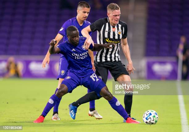 Orlando City forward Benji Michel during the MLS Preseason soccer match between the Orlando City SC and KR Reykjavik on February 18 at Explorer...