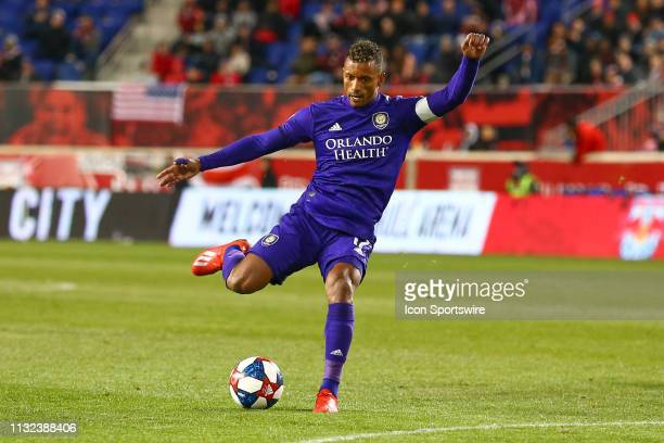 Orlando City forward Nani during the first half of the Major League Soccer game between the York Red Bulls and Orlando City on March 23 2019 at Red...