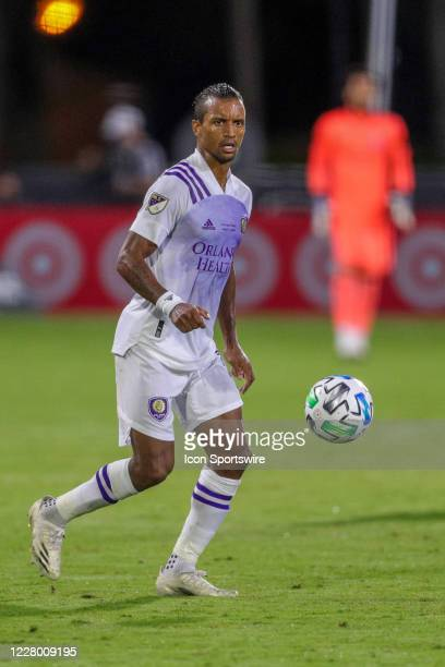 Orlando City forward Nani during the MLS is Back Final between the Orlando City Lions and the Portland Timbers on August 11 at the ESPN Wide World of...