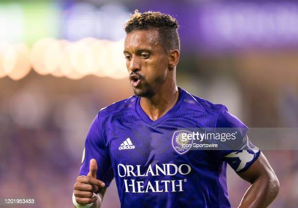 Orlando City forward Nani during the MLS Preseason soccer match between the Orlando City SC and KR Reykjavik on February 18 at Explorer Stadium in...