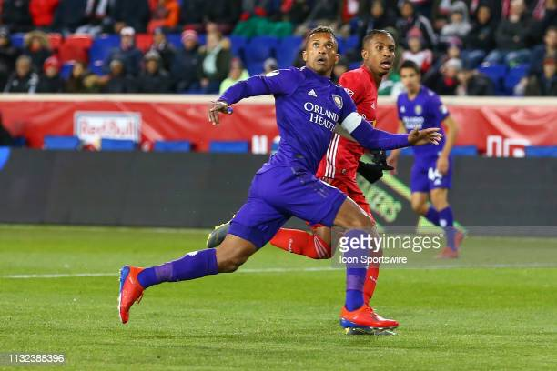 Orlando City forward Nani during the second half of the Major League Soccer game between the York Red Bulls and Orlando City on March 23 2019 at Red...