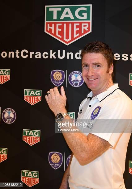 Orlando City Head Coach James O'Connor poses during the 'TAG Heuer Celebrate Partnership with the Orlando City and Orlando Pride' event on November...