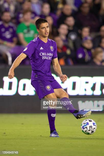 Orlando City midfielder João Moutinho passes the ball during the soccer match between Real Salt Lake and Orlando City SC on February 29 at Exploria...