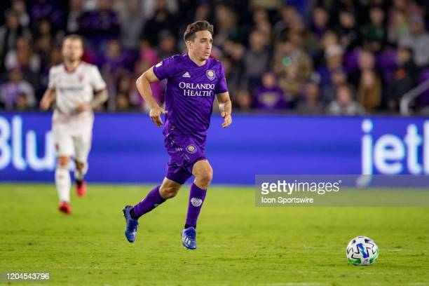 Orlando City midfielder Mauricio Pereyra during the soccer match between Real Salt Lake and Orlando City SC on February 29 at Exploria Stadium in...