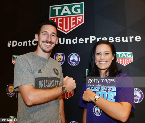 Orlando City player Sacha Kljestan and Orlando Pride player Ali Krieger kickoff the Tag Heuer new partnership with Orlando City SC Orlando Pride on...