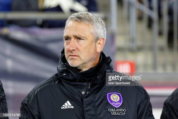 Orlando City SC assistant coach Sean McAuley before a match between the New England Revolution and Orlando City SC on October 13 at Gillette Stadium...