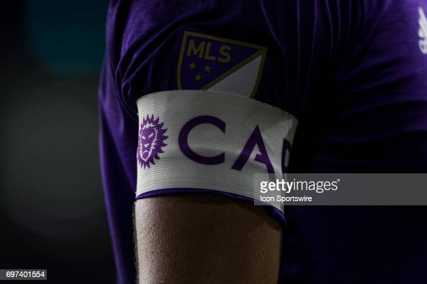 Orlando City SC midfielder Kaka wears the captain's armband during the MLS soccer match between the Montreal Impact and Orlando City on June 17 2017...
