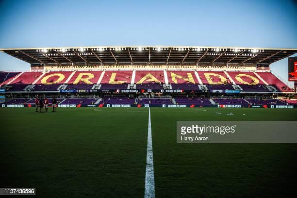 Orlando City Stadium before the USMNT vs Ecuador International Friendly on March 21 2019 in Orlando Florida
