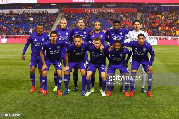 Orlando City starting eleven pose for a photo prior to the Major League Soccer game between the New York Red Bulls and Orlando City on March 23 2019...