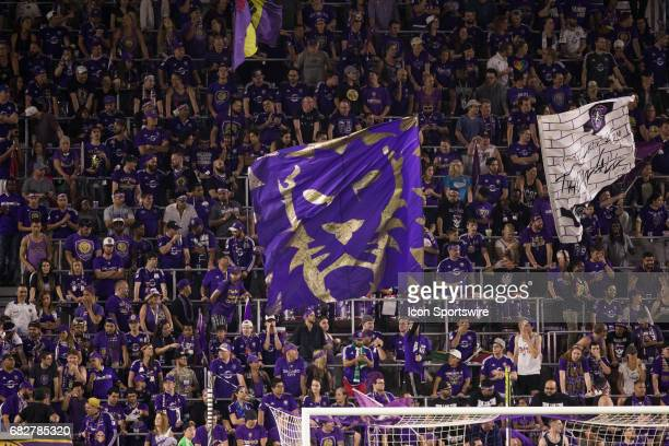Orlando fans during the soccer match between Sporting Kansas City and Orlando City on May 13 2017 at Orlando City Stadium in Orlando FL