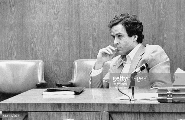 Orlando, Fla.: Theodore Bundy watches intently during the third day of jury selection at his trial in Orlando for the murder of 12-year-old Kimberly...