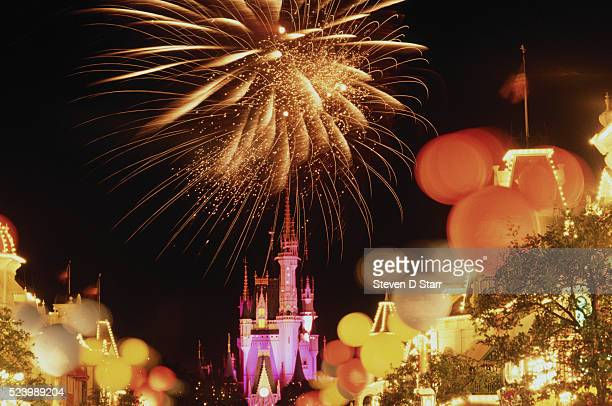 Fireworks during 20th anniversary at Disney World