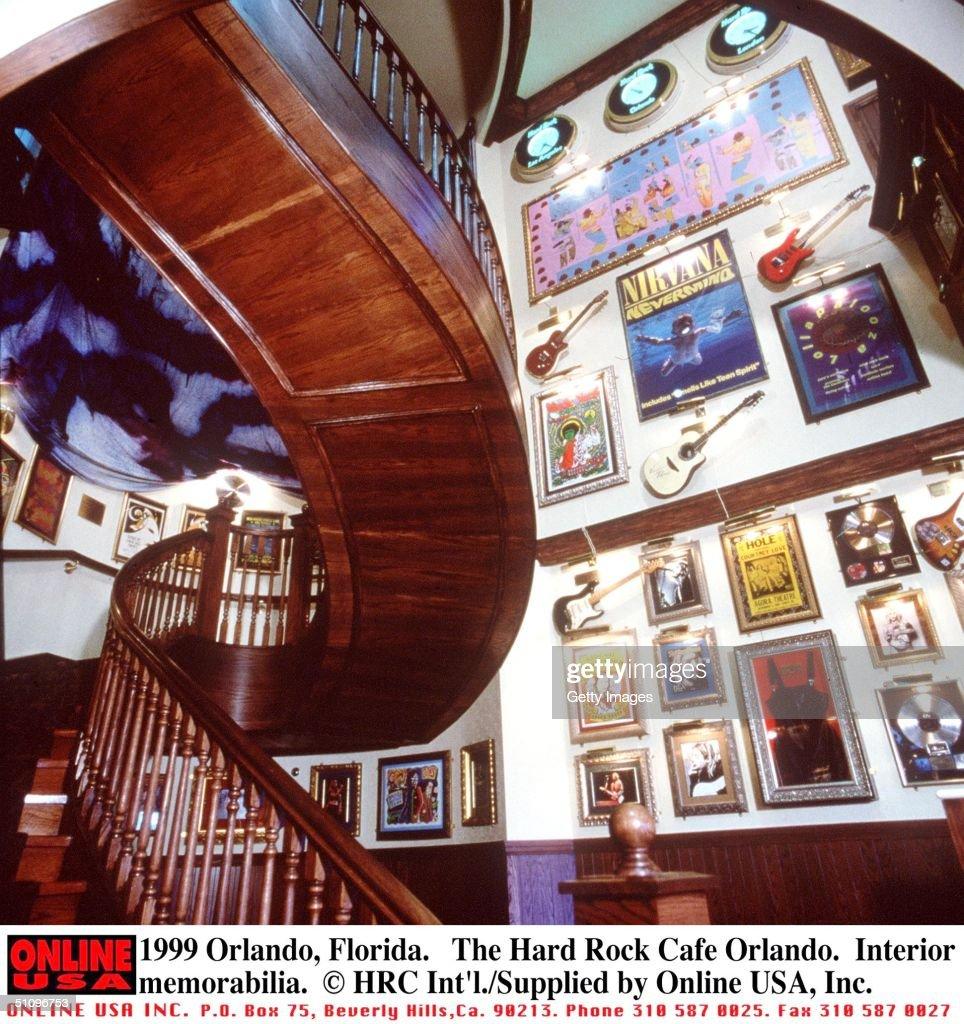 orlando florida the interior memorabilia section of the hard rock