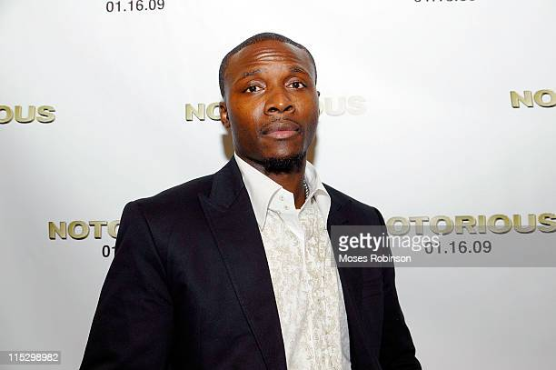 Orlando Hudson attends a special screening of 'Notorious' at the AMC Fork Screen Buckhead on January 12 2009 in Atlanta Georgia