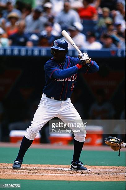 Orlando Hudson of the Toronto Blue Jays bats against the Baltimore Orioles on August 2 2002 at Rogers Centre in Toronto Ontario Canada
