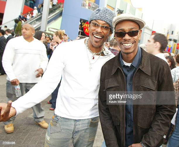 Orlando Jones and Dave Chappelle at the premiere of Undercover Brother at the Universal CityWalk in Los Angeles Ca Thursday May 30 2002 Photo by...