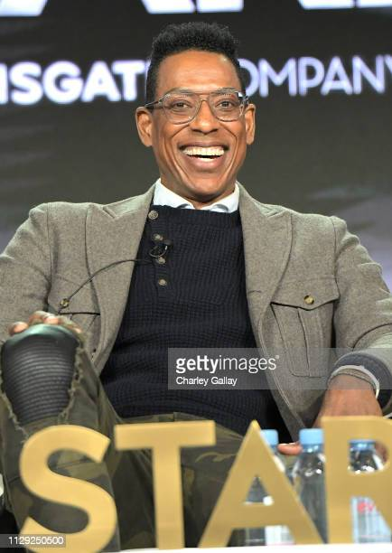 Orlando Jones of 'American Gods' speaks onstage during Starz 2019 Winter TCA Panel & All-Star After Party on February 12, 2019 in Los Angeles,...