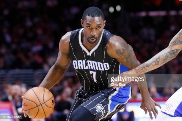 Orlando Magic guard Ben Gordon brings the ball up court during the Los Angeles Clippers 11486 victory over the Orlando Magic at the Staples Center on...