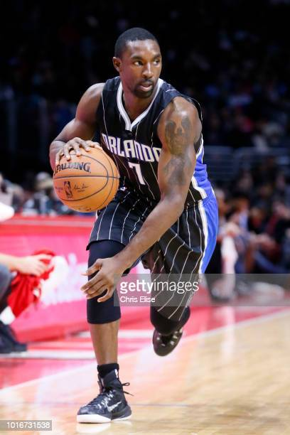 Orlando Magic guard Ben Gordon dribbles during the Los Angeles Clippers 11486 victory over the Orlando Magic at the Staples Center on December 3 2014...