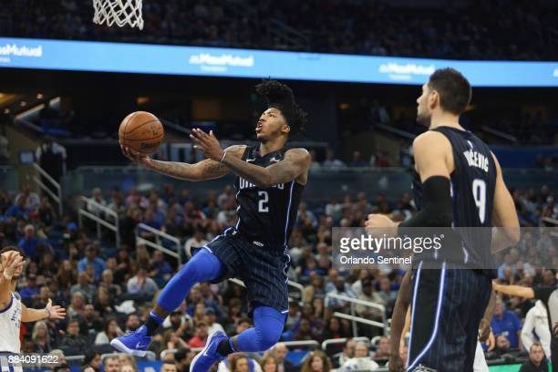 Orlando Magic guard Elfrid Payton goes for a basket against the Golden State Warriors at Amway Center Friday Dec 1 2017 The Warriors beat the Magic...