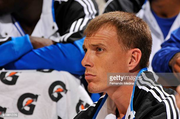 Orlando Magic guard Jason Williams watches play against the Miami Heat during the preseason game on October 7 2008 at Amway Arena in Orlando Florida...