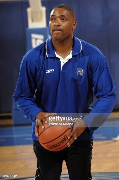 Orlando Magic Legend Nick Anderson hosted the tipoff of the Jr NBA/Jr WNBA Skills Challenge on the Magic practice court at the RDV Sportsplex on...