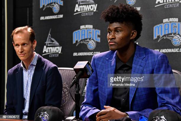 Orlando Magic President of Basketball Operations Jeff Weltman and Head Coach Frank Vogel introduce 2017 Magic Draft Picks Jonathan Isaac and Wesley...